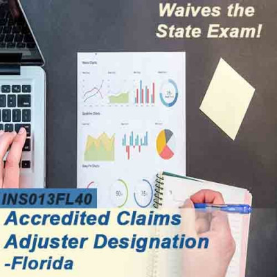 Florida - ALL LINES ACCREDITED CLAIMS ADJUSTER DESIGNATION COURSE (ACA) ONLINE (INS013FL40) 6-20
