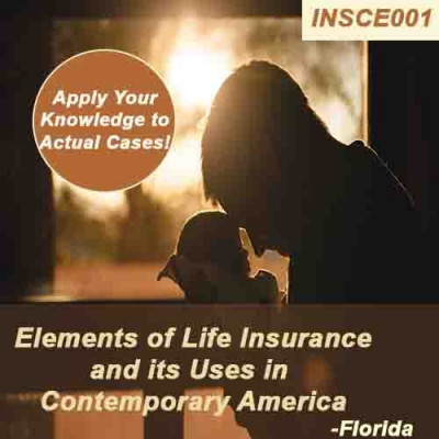 Florida - ELEMENTS OF LIFE INSURANCE AND IT'S USES IN CONTEMPORARY AMERICA (CE) (INSCE001FL14)