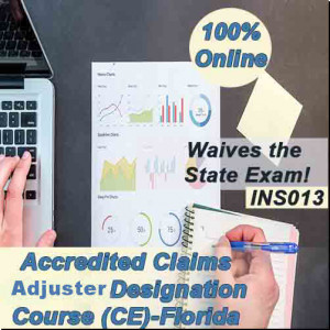 Florida - ACCREDITED CLAIMS ADJUSTER DESIGNATION COURSE (ACA) ONLINE (INS013FL40)